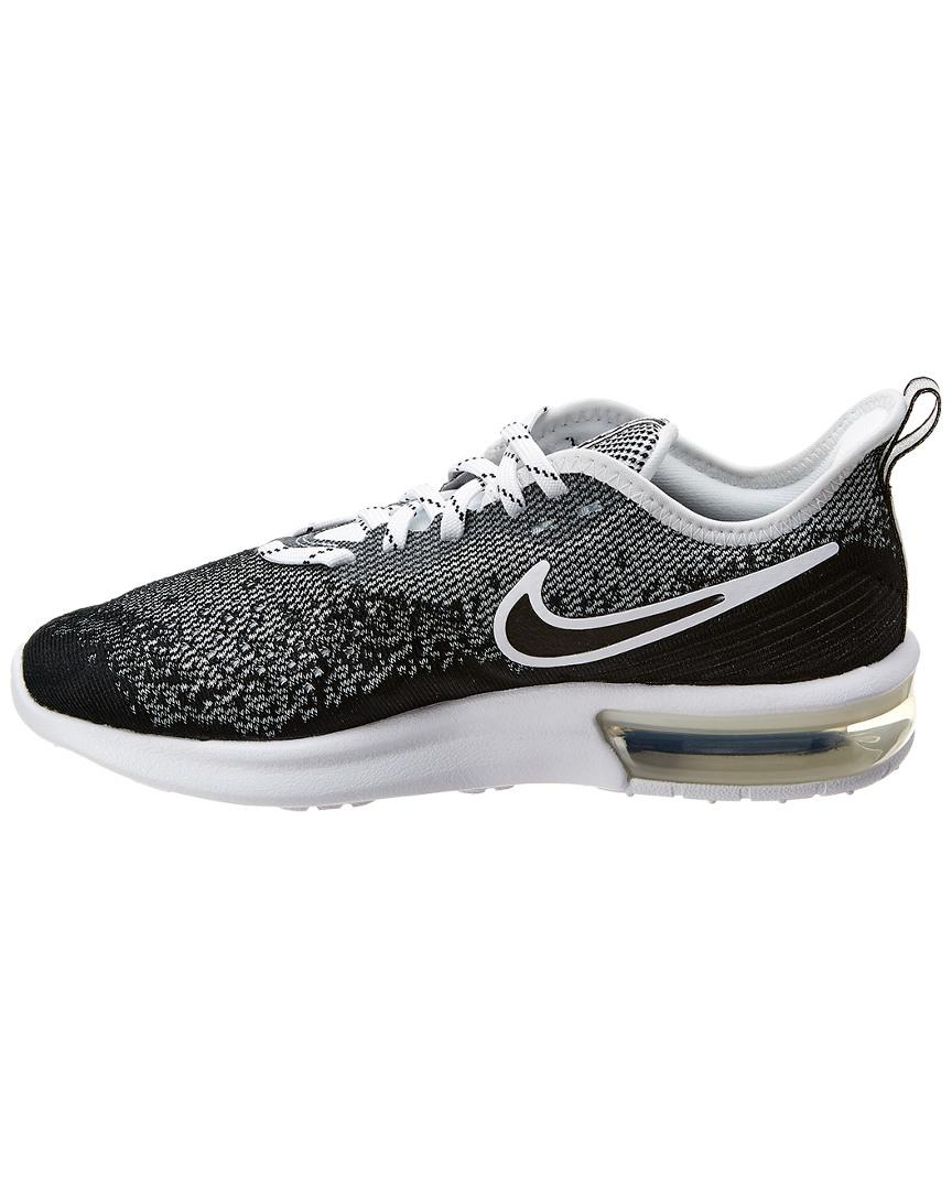 aa3531553b66 Lyst - Nike Air Max Sequent 4 Mesh Sneaker in Black