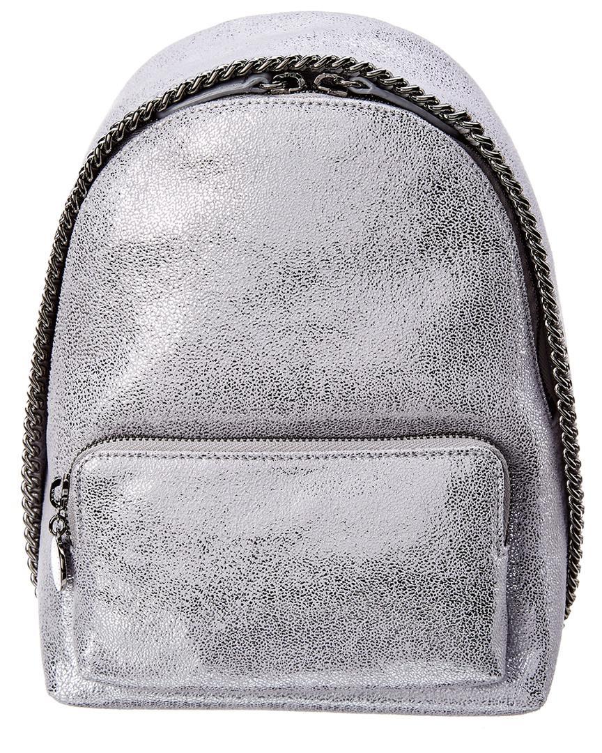 2408a0df8ad1 Stella McCartney. Women s Metallic Mini Falabella Shaggy Deer Backpack