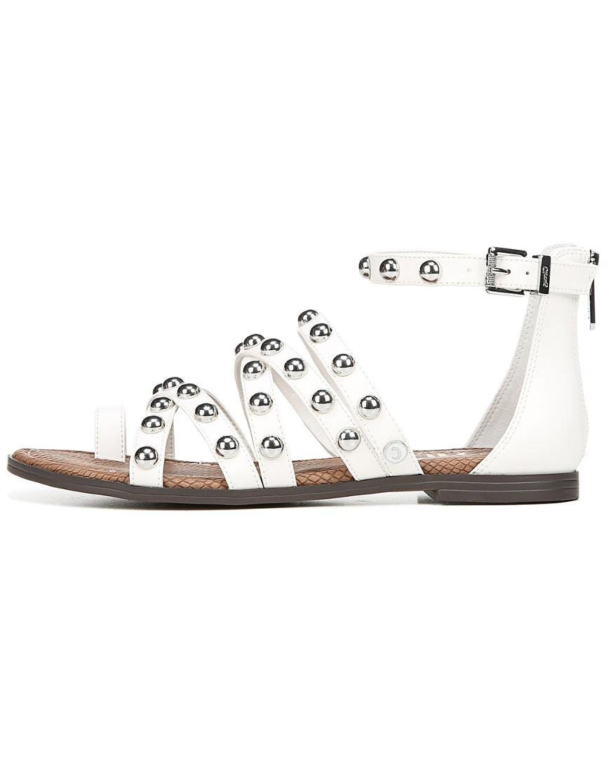 9f560fa58 Lyst - Circus by Sam Edelman Carla Studded Cage Sandals in White - Save 55%