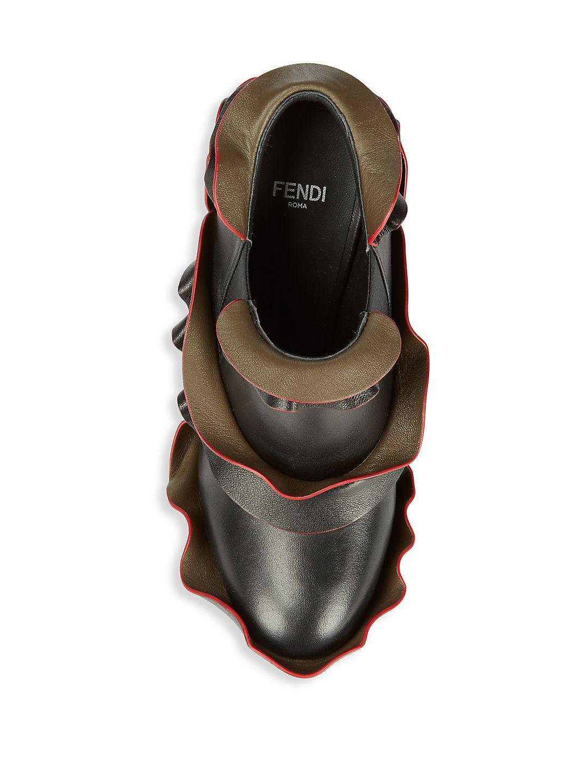 Fendi Slip-on Leather Boots in Black