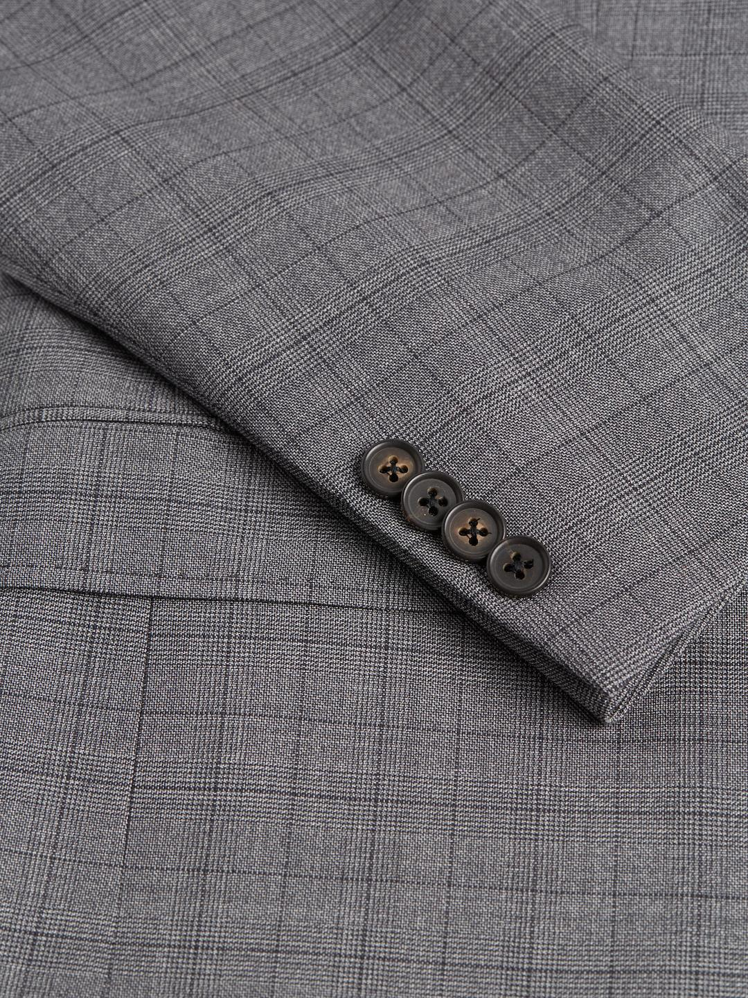 Ted Baker Wool Plaid Suit in Grey (Grey) for Men