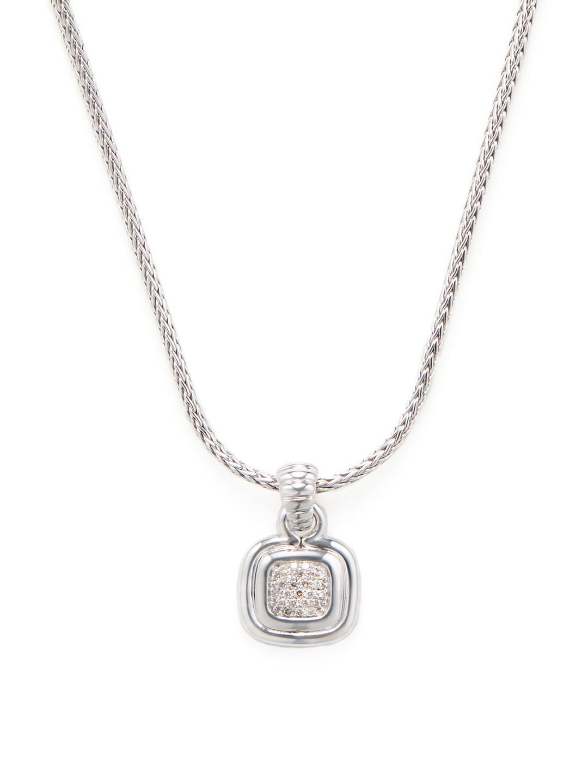 John Hardy Bedeg Mini Silver Beaded Necklace WbUvoGA