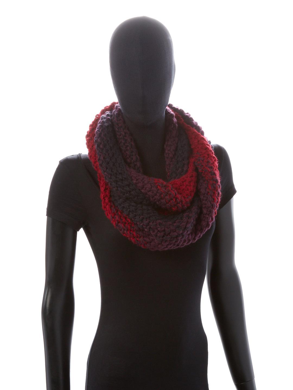 Genie by Eugenia Kim Dakota Ombre Knit Scarf - Burgundy/navy Eugenia Kim Xp7uJ5