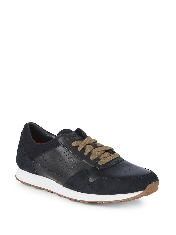 UGG Sneakers TRIGO suede leather black VVcgjO