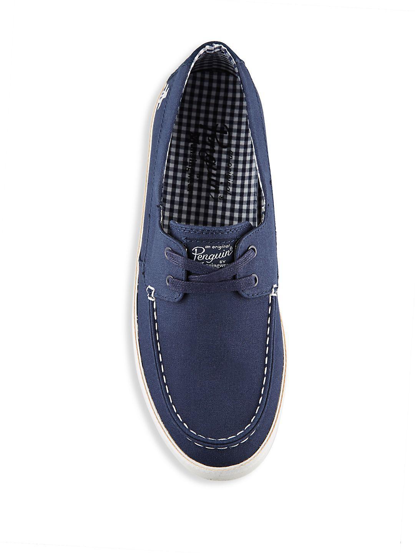 Original Penguin Suede-blend Slip-on Sneakers in Navy (Blue)
