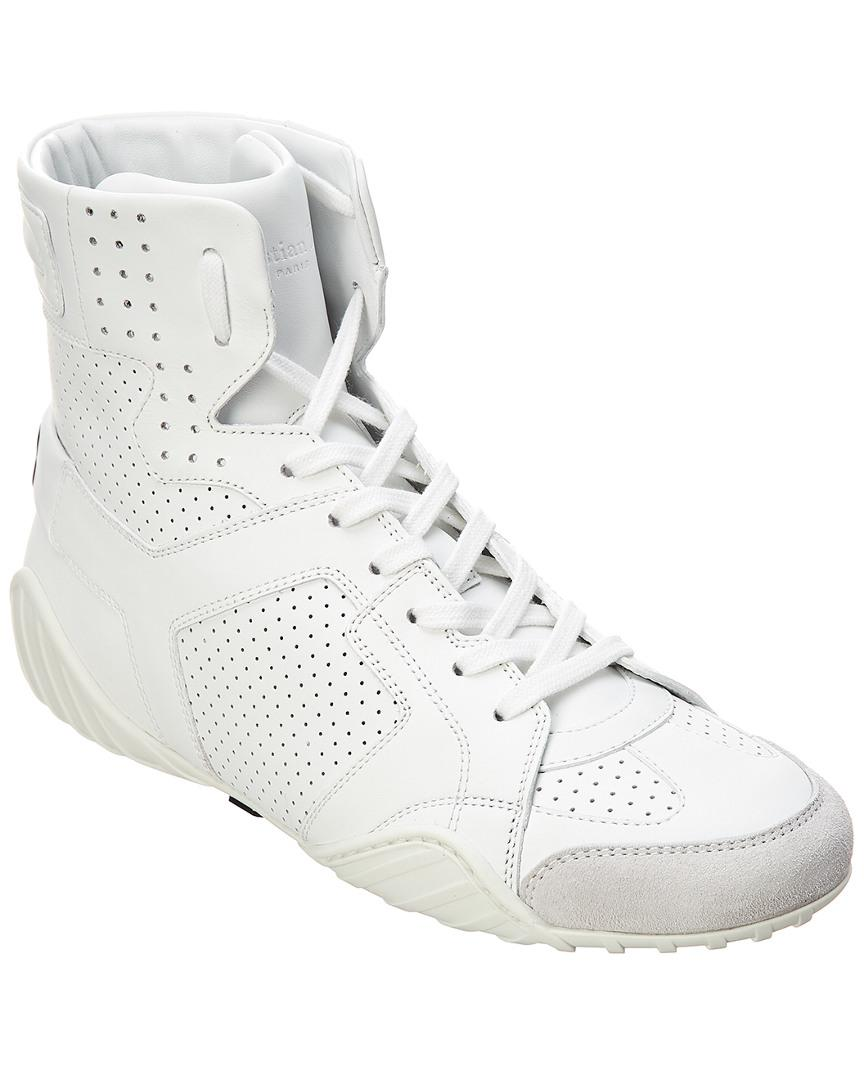 7cd39c50 Dior White D Fence Leather High-top Sneaker