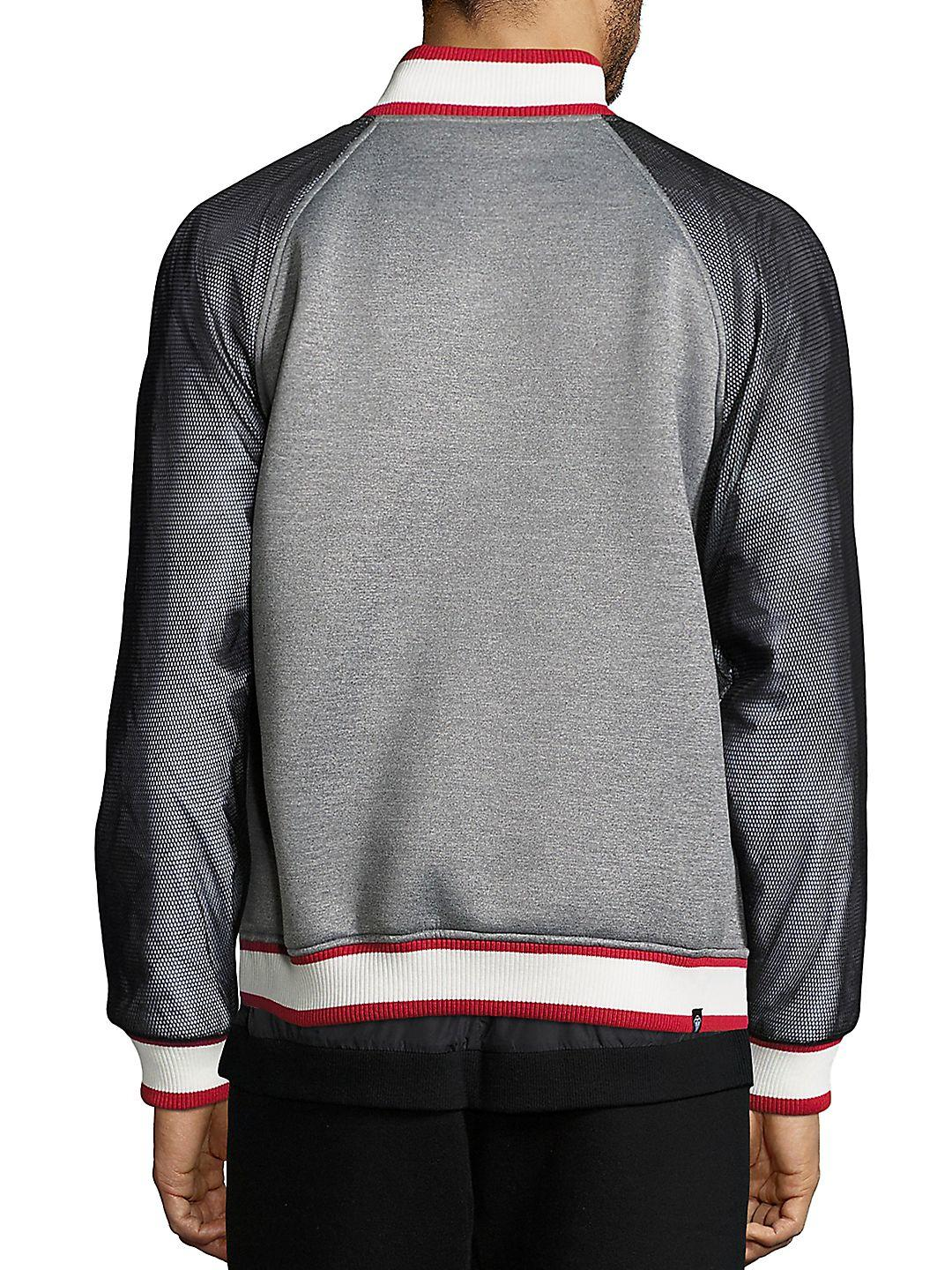 Mostly Heard Rarely Seen Synthetic Field Bomber Jacket in Grey (Grey) for Men