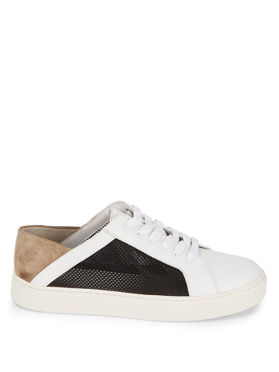 Vince Leather Anette Alabaster Sneakers