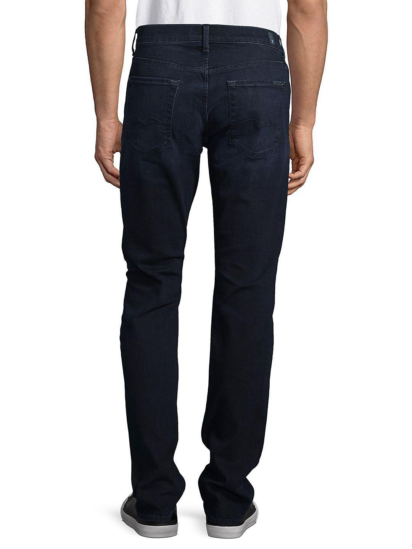 7 For All Mankind Denim Luxe Performance Slimmy Slim Straight-leg Jeans in Blue for Men