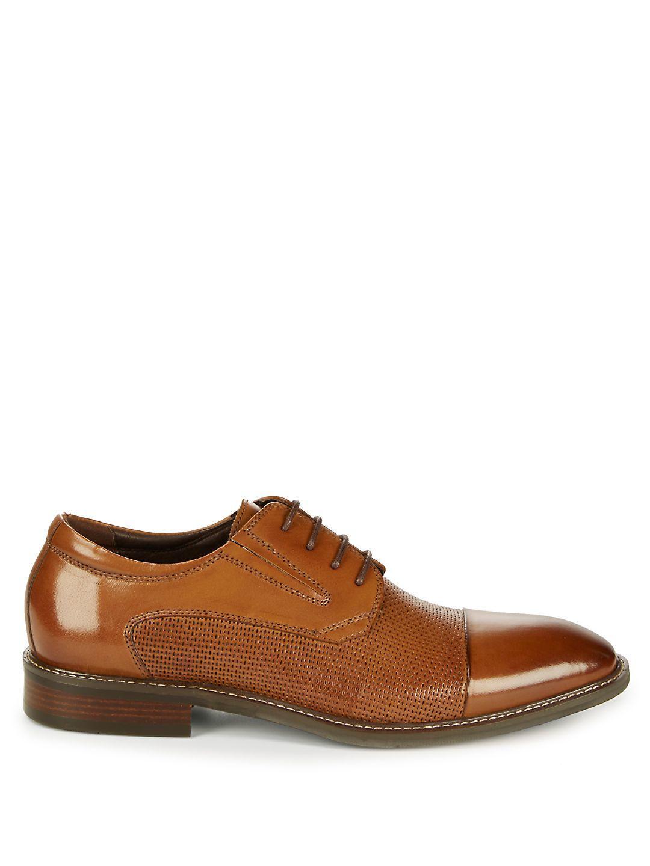 Zanzara Dayes Leather Derbys in Cognac (Brown) for Men