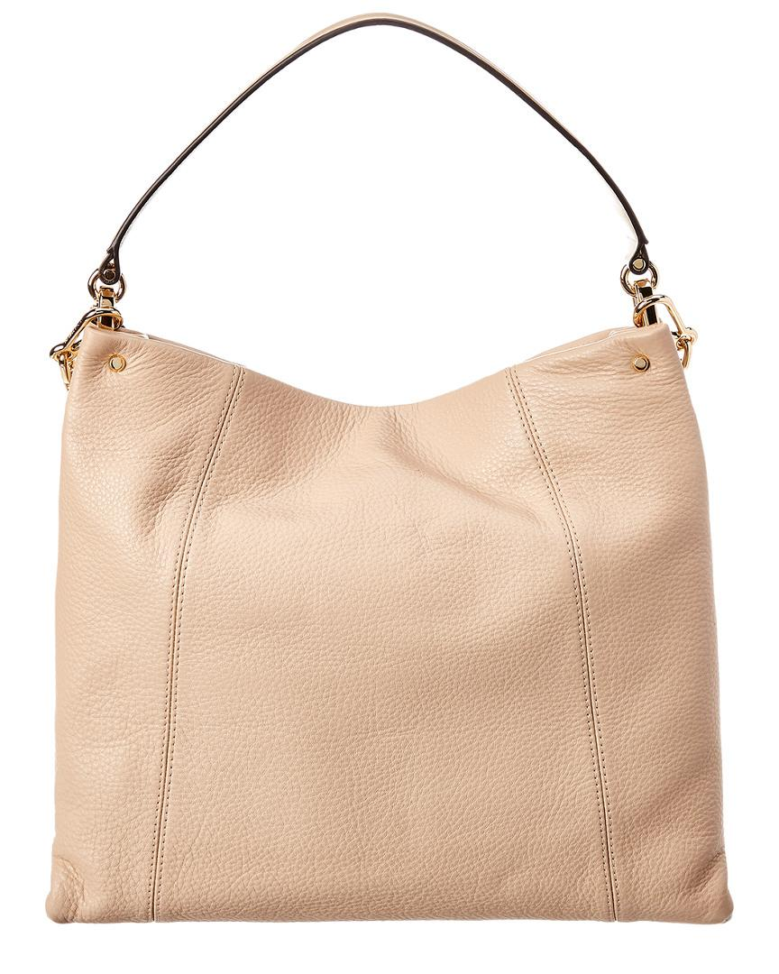 bda23ce4c8c51 MICHAEL Michael Kors Lex Large Leather Hobo Bag in Natural - Lyst