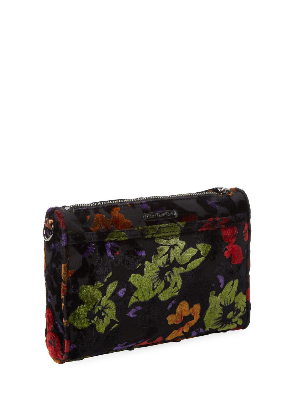 Rebecca Minkoff Synthetic Mini Mac Floral-print Crossbody in Black
