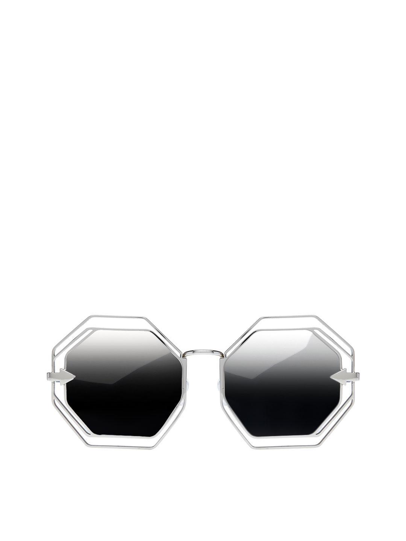 db5b8907ecf Karen Walker Emmanuel Mirrored Octagonal Frame in Metallic - Lyst