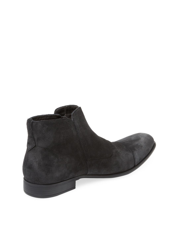 John Varvatos Star USA Men/'s Star M Zip Boot Distressed Suede Mineral Black