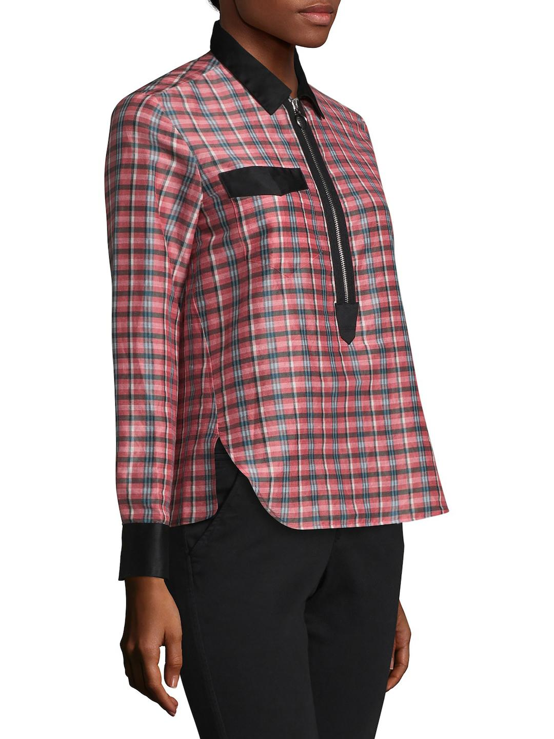 Isabel Marant Woman Poplin-trimmed Checked Ramie And Silk-blend Shirt Pink Size 40 Isabel Marant Free Shipping Inexpensive uNQWEkUDFR
