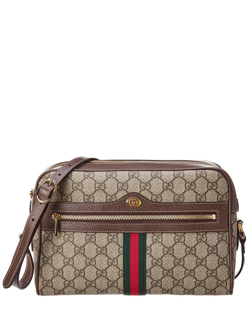 08761f80d Gucci. Women's Ophidia GG Small Supreme Canvas & Leather Shoulder Bag
