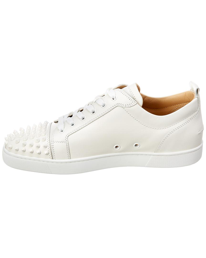 6f933fce120 Lyst - Christian Louboutin Louis Junior Leather Sneaker in White for Men -  Save 4%