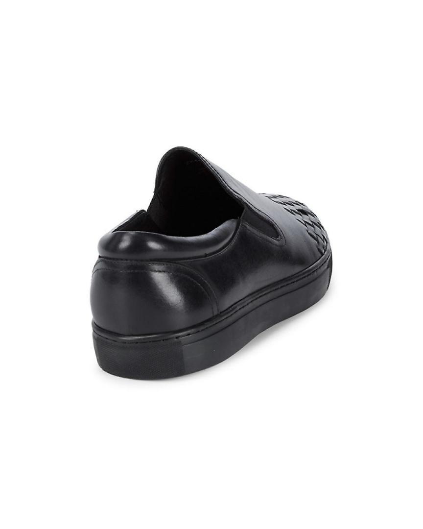 Zanzara Leather Slip-on Style in Black for Men