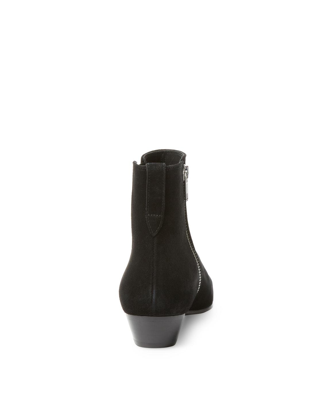 Isabel Marant Patsha Solid Leather Bootie in Black