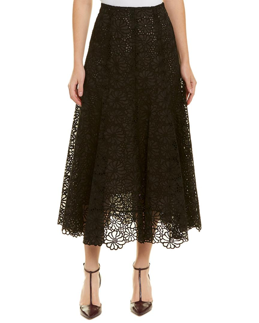 04618d673 Rebecca Taylor Malorie Silk A-line Skirt in Black - Save 1% - Lyst