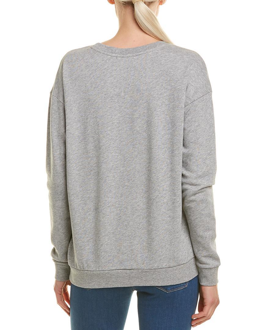 555910528e Women's Gray Pompom Sweatshirt