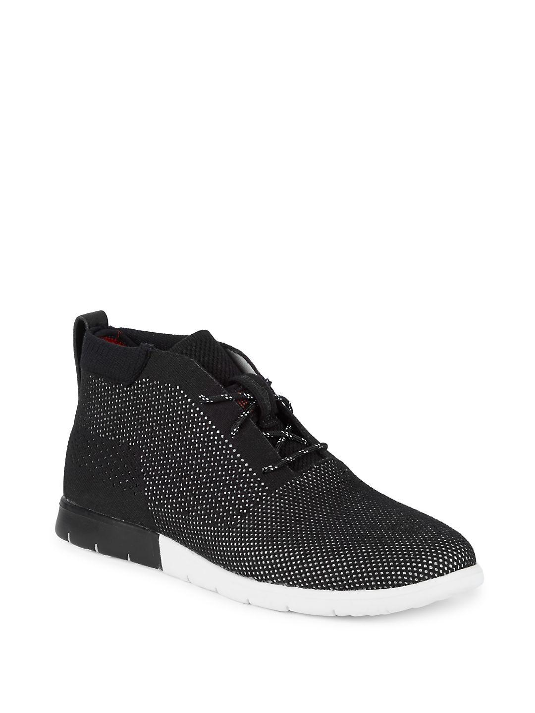 UGG FREAMON HYPERWEAVE - High-top trainers - black