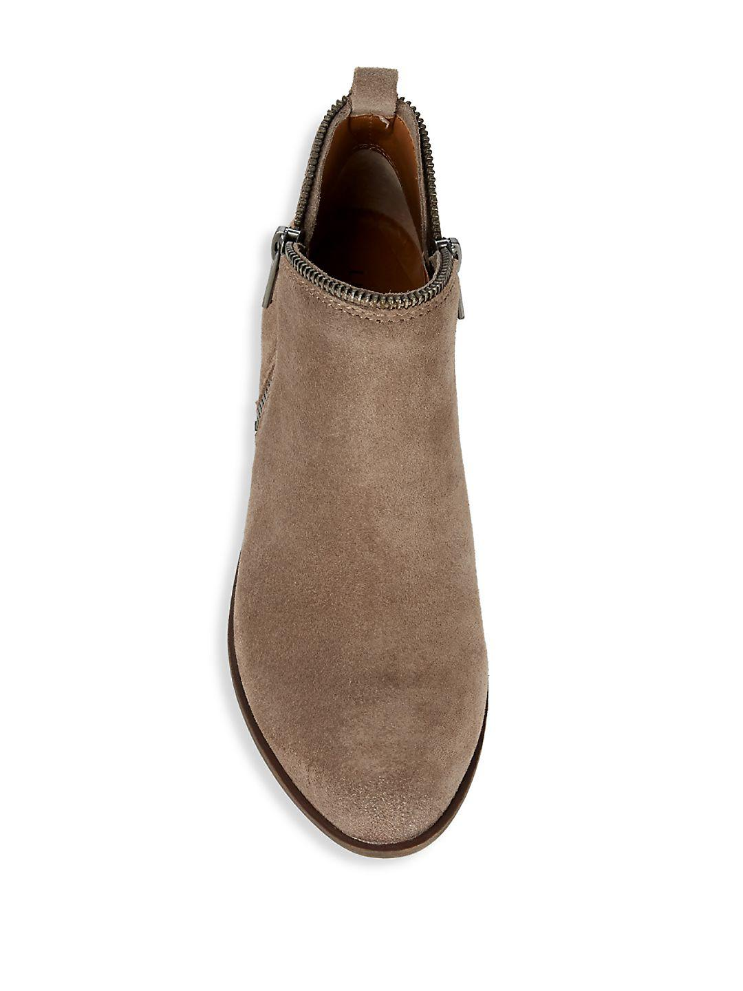 Lucky Brand Bartalino Classic Suede Booties in Brown