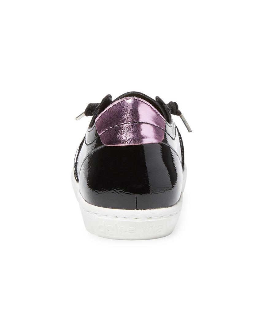 Dolce Vita Xexe Leather Sneaker in Black