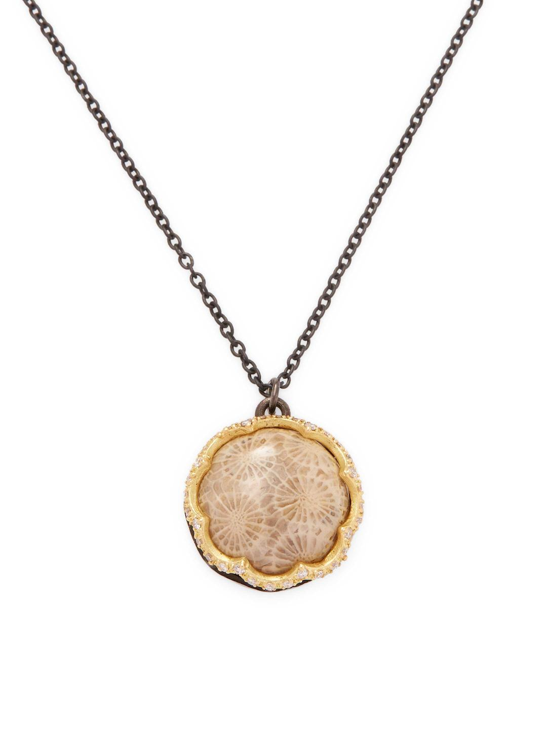 Armenta Fossilized Coral Pendant Necklace w/ 18k Gold 27ZPelaxHi