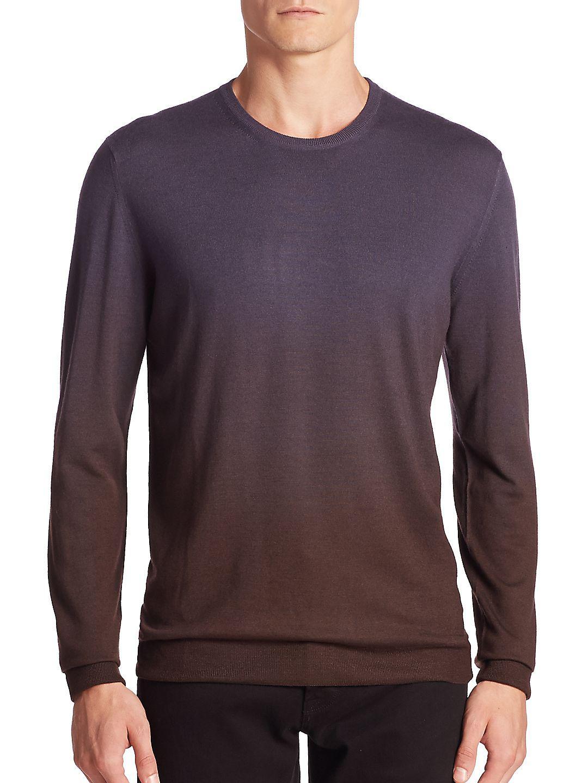 Pal Zileri Ombre Virgin Wool Sweater in Purple for Men