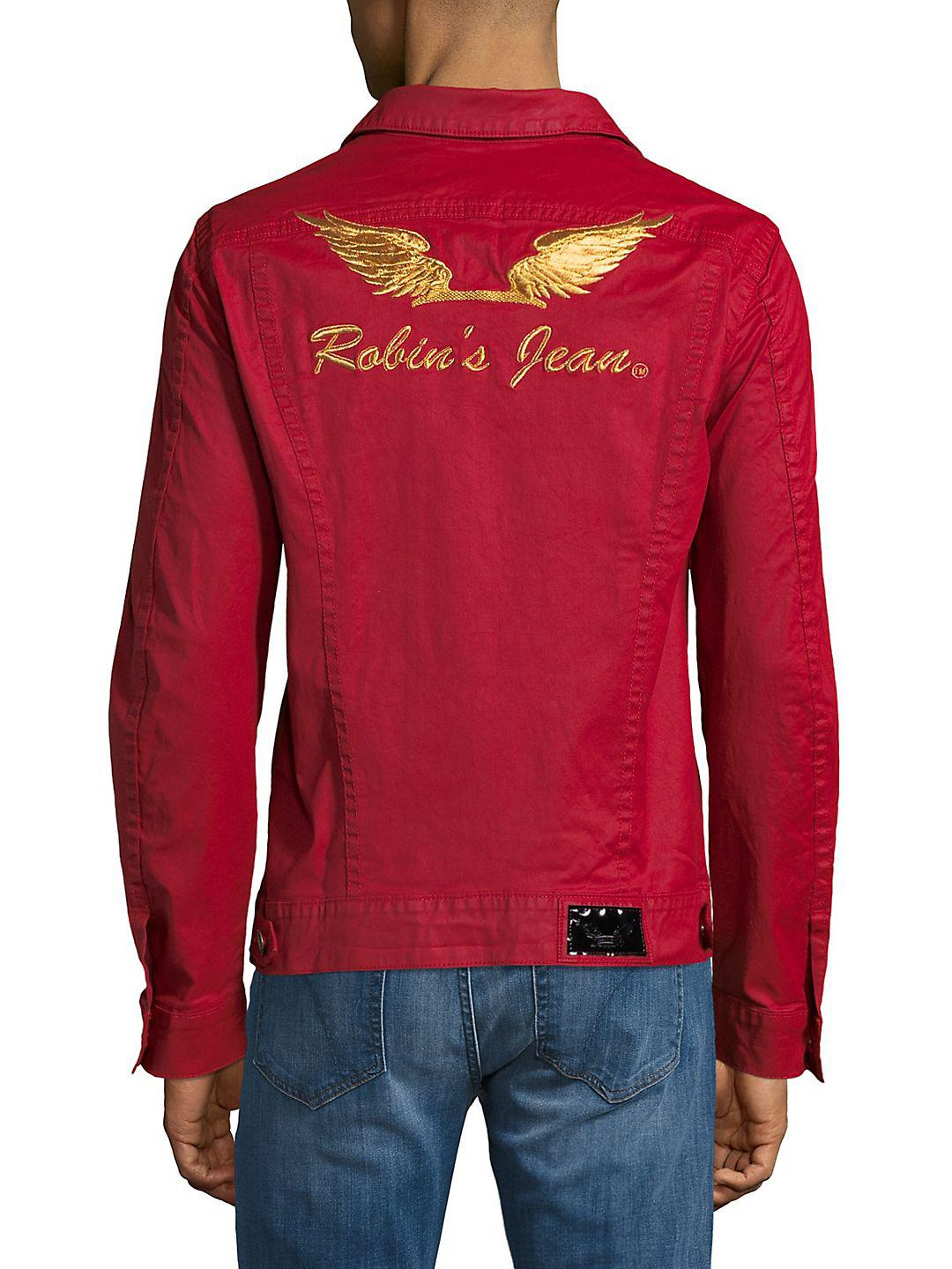 Robin's Jean Cotton Button-through Jacket in Red for Men
