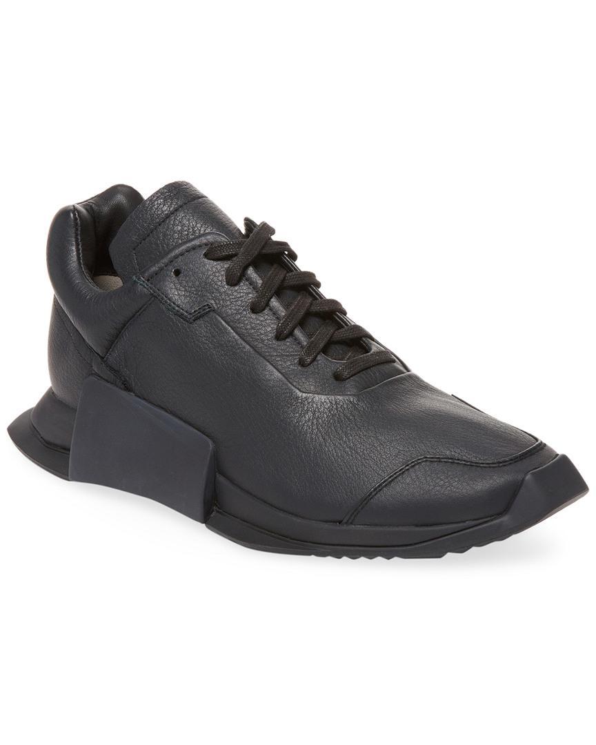 adidas da rick owens ro livello ii, scarpe da ginnastica in nero di pelle