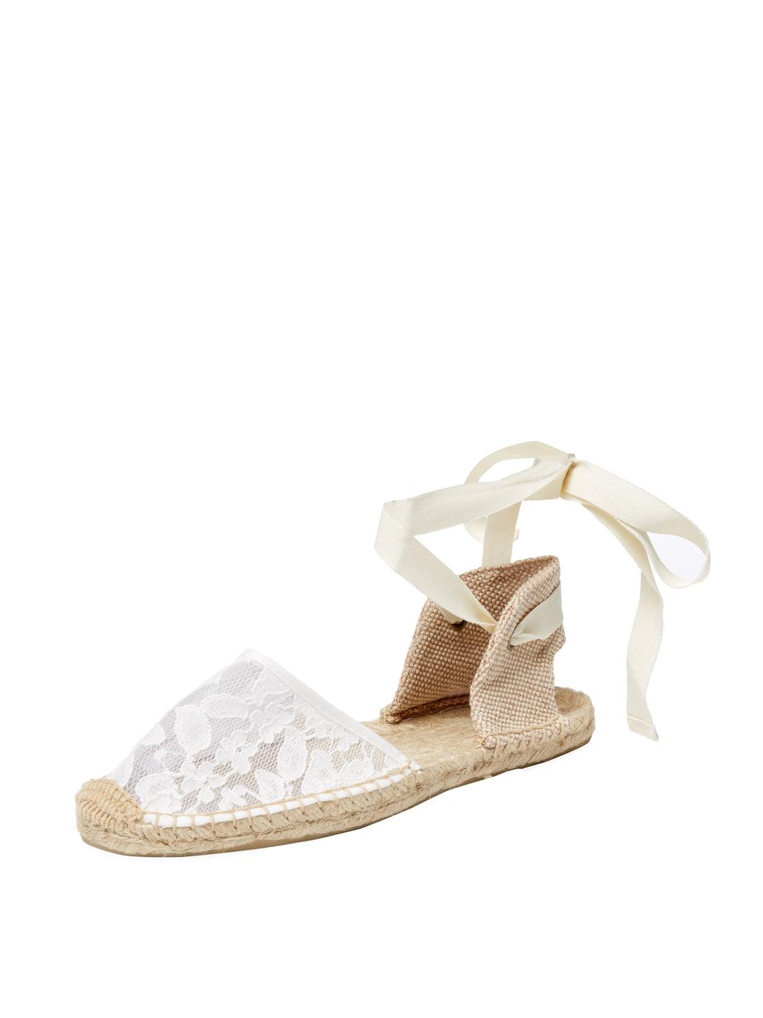 6d95ace71652 Soludos Chantilly Lace Ankle-wrap Espadrille Sandal in White - Lyst