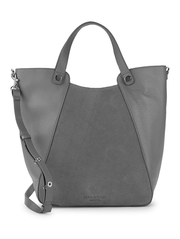 Lyst - Halston Leather   Suede Tote Bag 33e64e3301bf3
