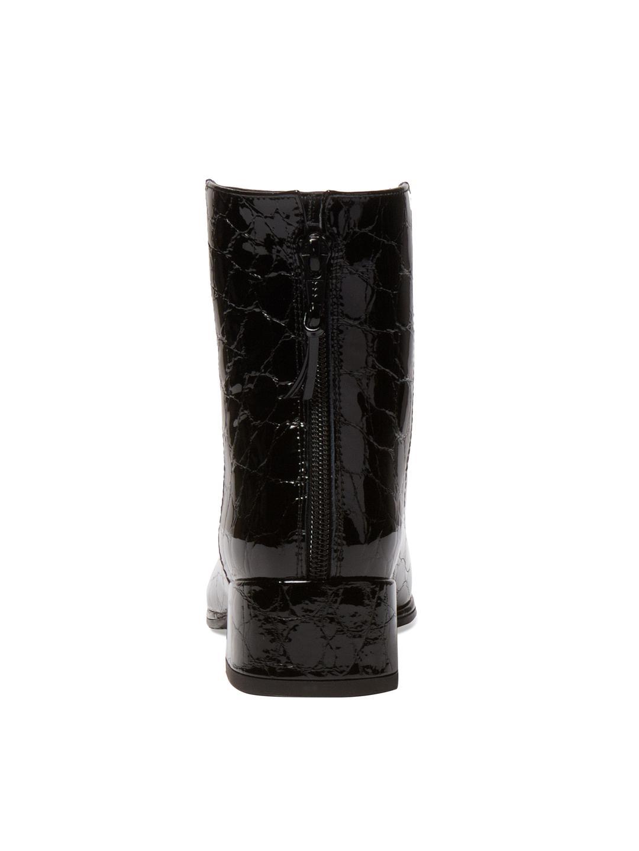 Stuart Weitzman Modesto Leather Bootie in Black
