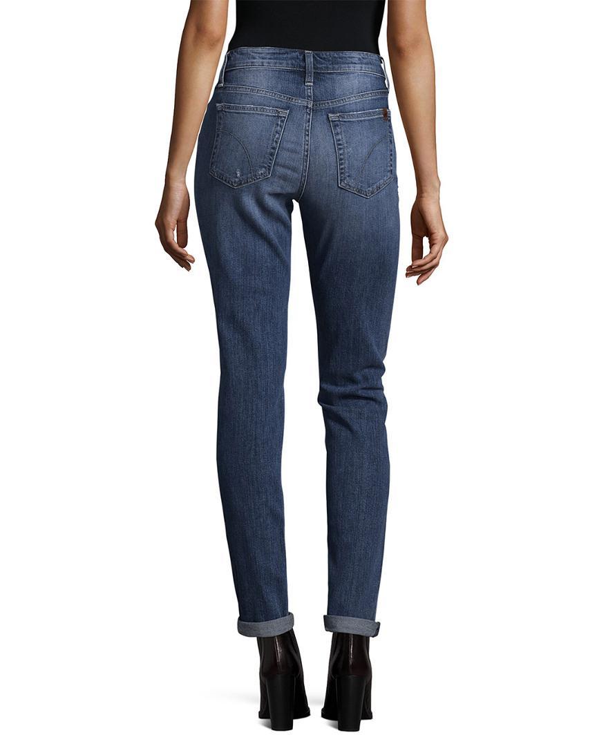 Joe's Jeans Cotton Slim Boyfriend Pant in Blue