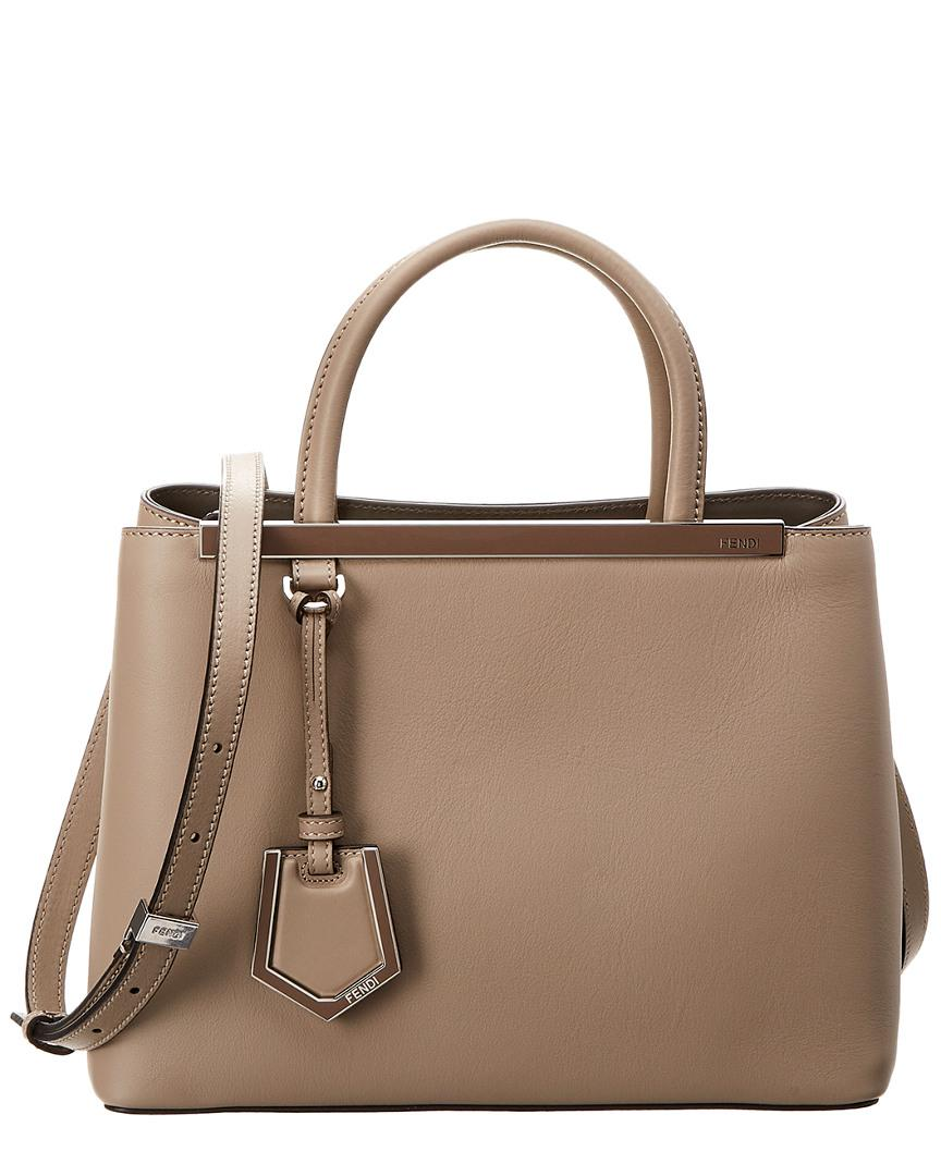5b81fac07946 Fendi - Natural Petite 2jours Leather Tote - Lyst. View fullscreen