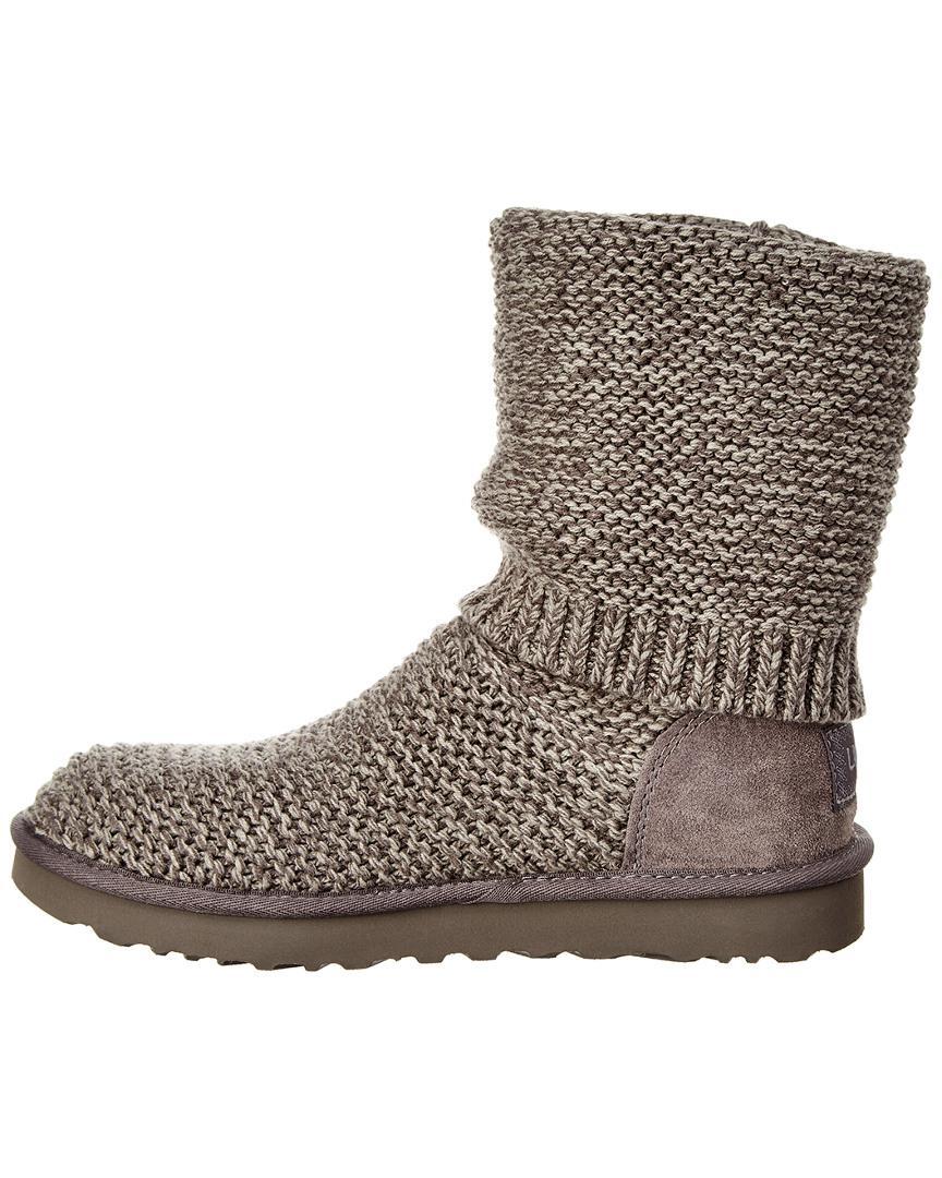 b391b46e54a Ugg Gray Purl Cardi Knit Boot