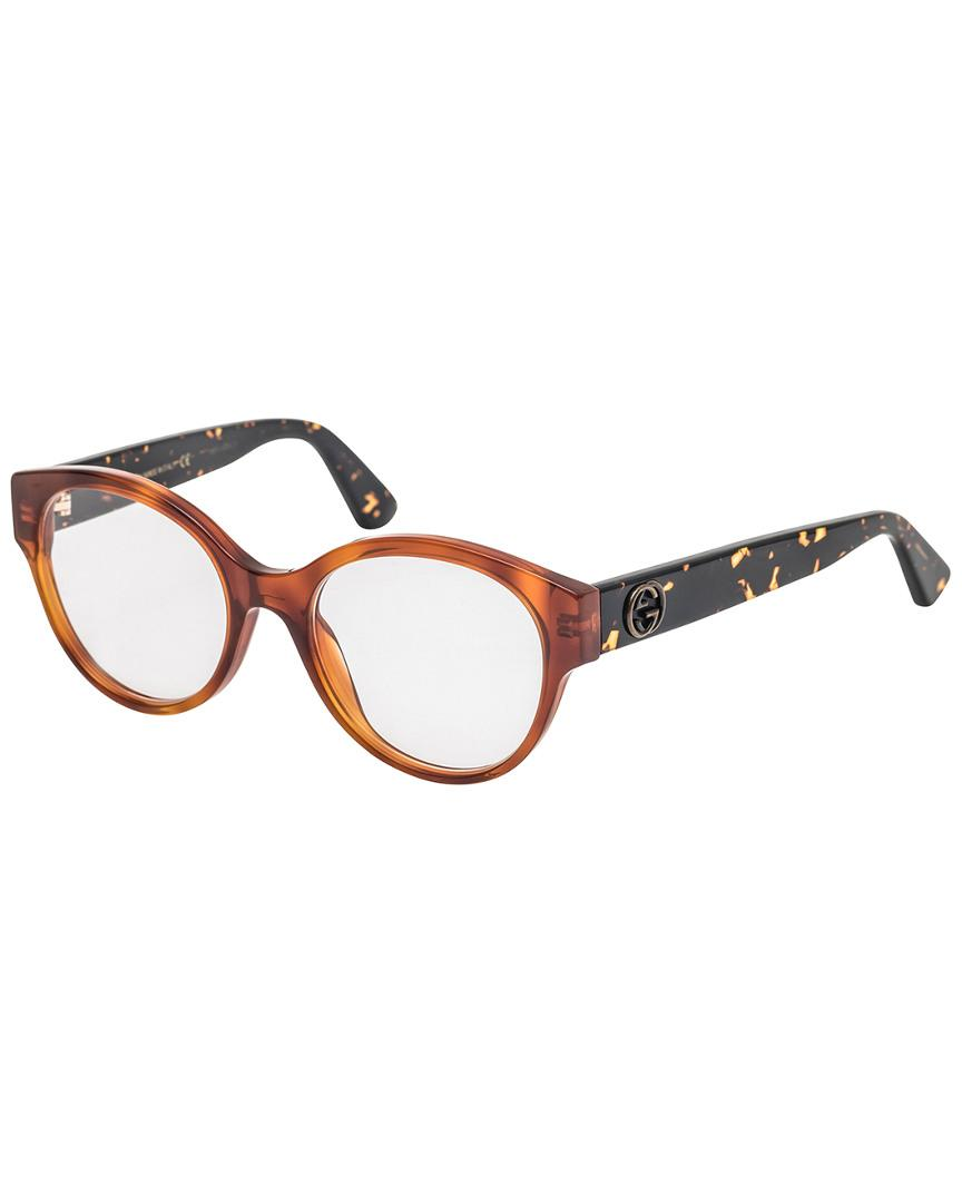 7f0818366 Lyst - Gucci Women's 50mm Optical Frames in Brown