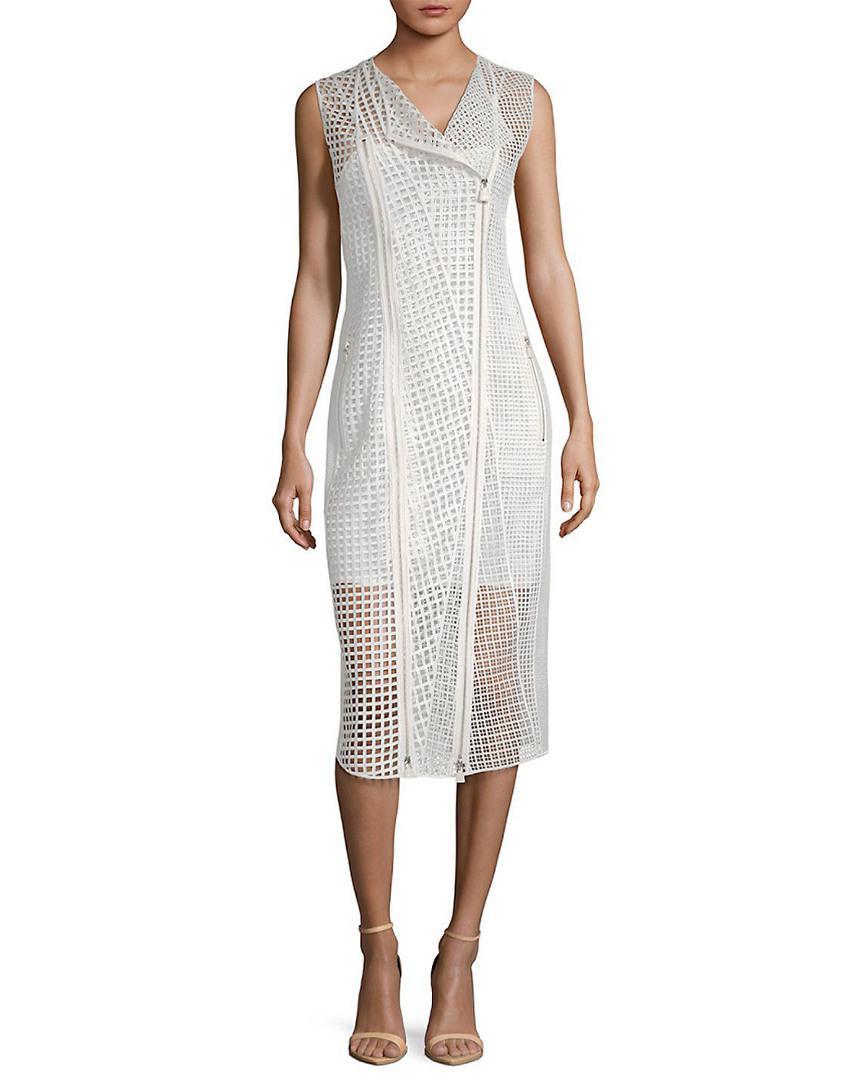 c4f7f866de Akris Delaware Cut-out Silk Midi Dress in White - Save 29% - Lyst