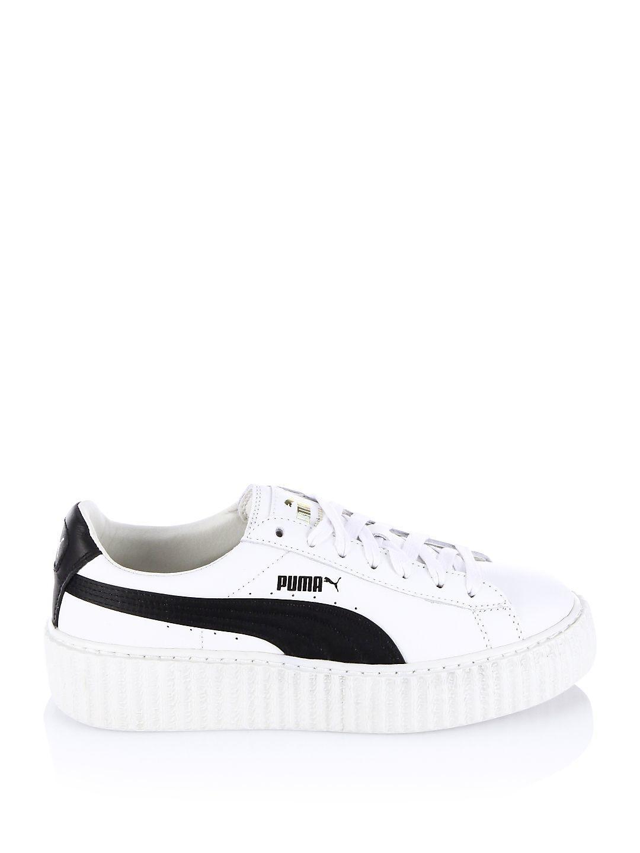 92910d0e8e01 Lyst - PUMA Fenty X Rihanna Leather Creeper Platform Sneakers in White