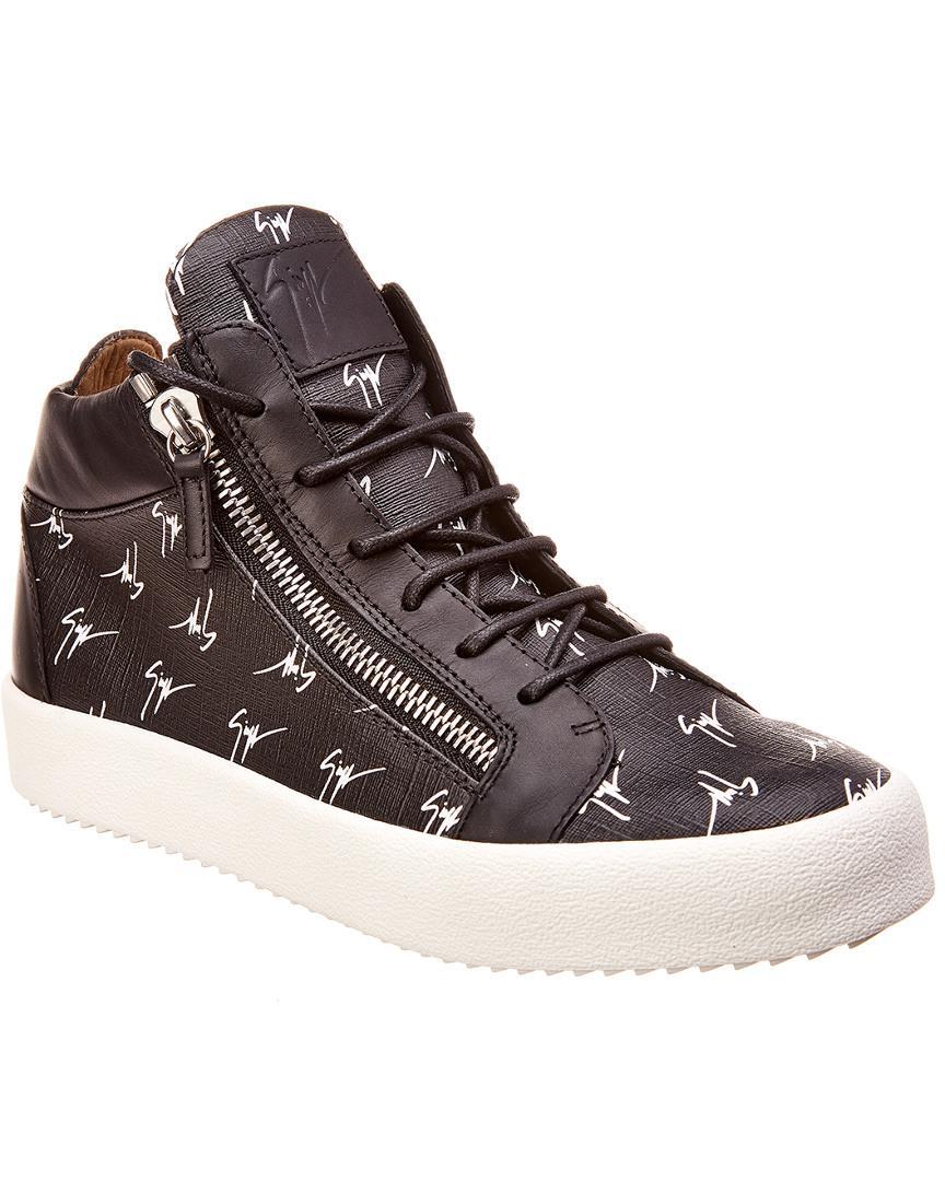 3fd997de40c Lyst - Giuseppe Zanotti Leather Sneaker in Black for Men