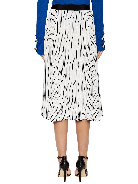 3daf9f4bb9 Lyst - Prabal Gurung Jersey Pleated Skirt in White