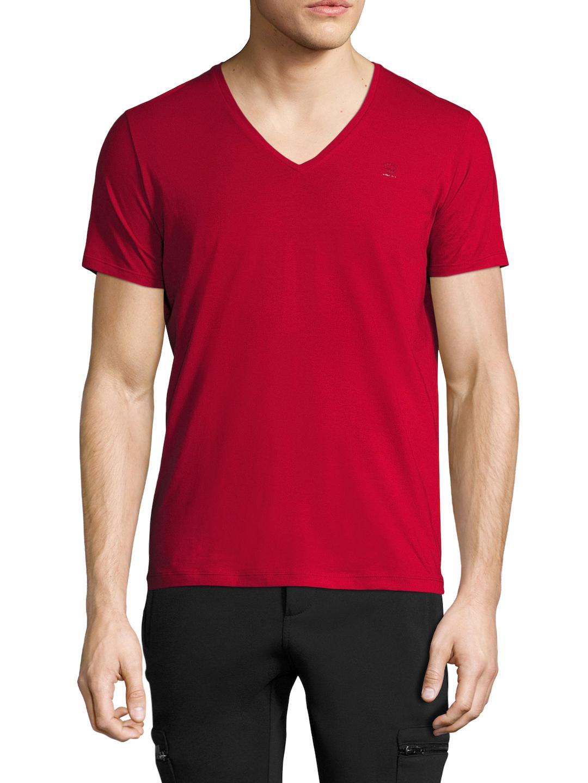 DIESEL T-ruth V-neck T-shirt in Red for Men - Lyst