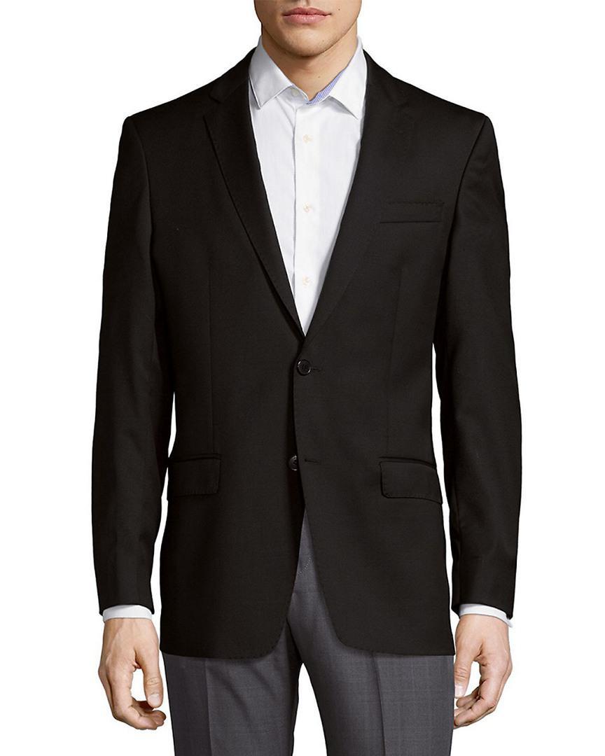 Versace Long Sleeve Wool Blazer in Black for Men