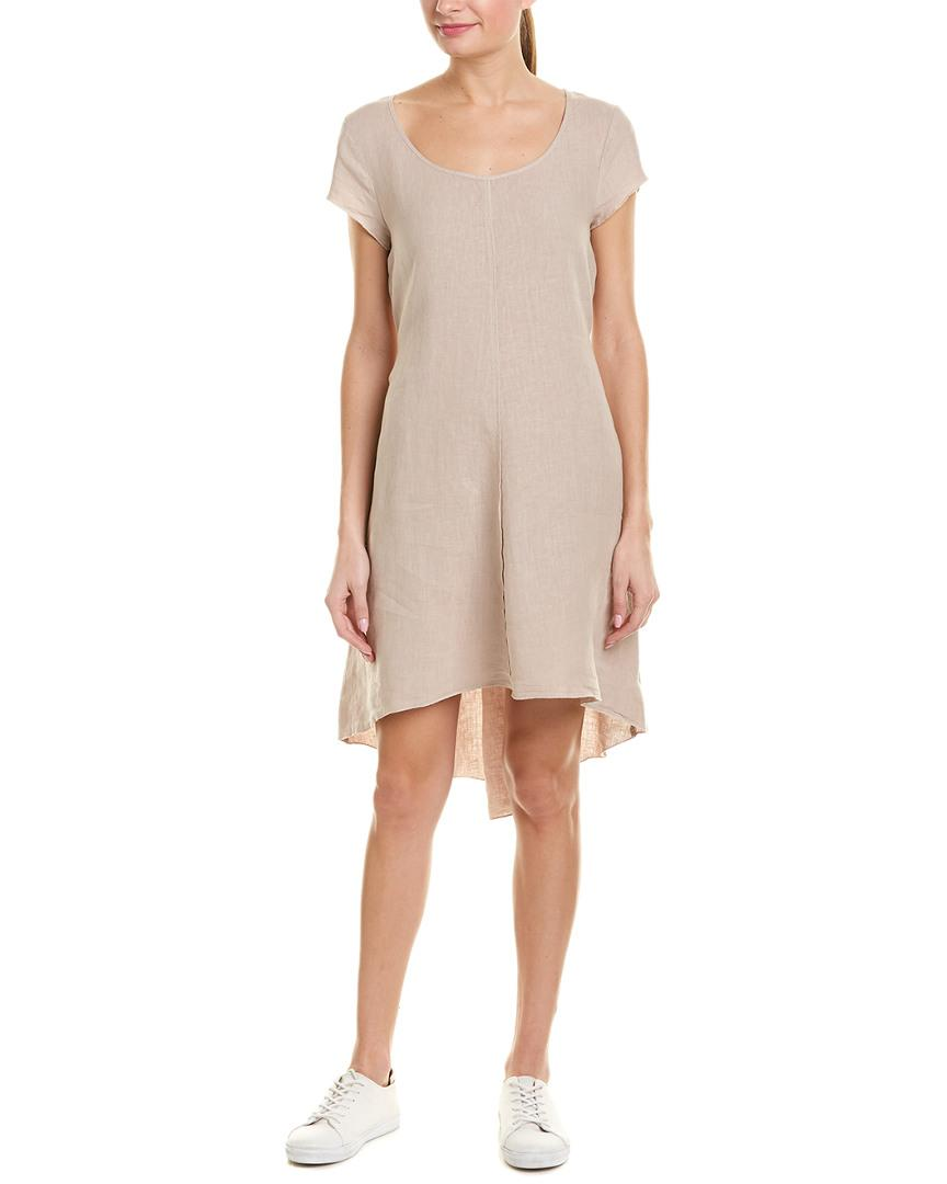 016015e7a5 Lyst - Three Dots High-low Linen Shift Dress in Brown