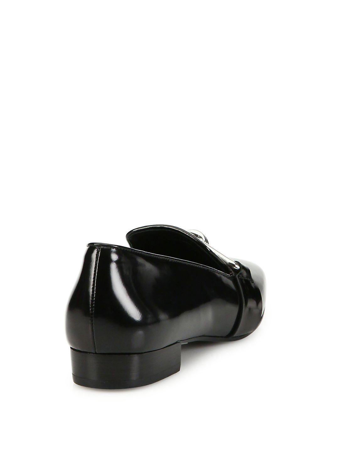 7a0c12db2d326 Lyst - Michael Kors Lennox Patent Leather Loafers in Black