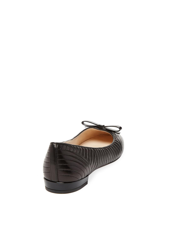 0b7dc857b6227 Prada Black Quilted Leather Ballet Flat
