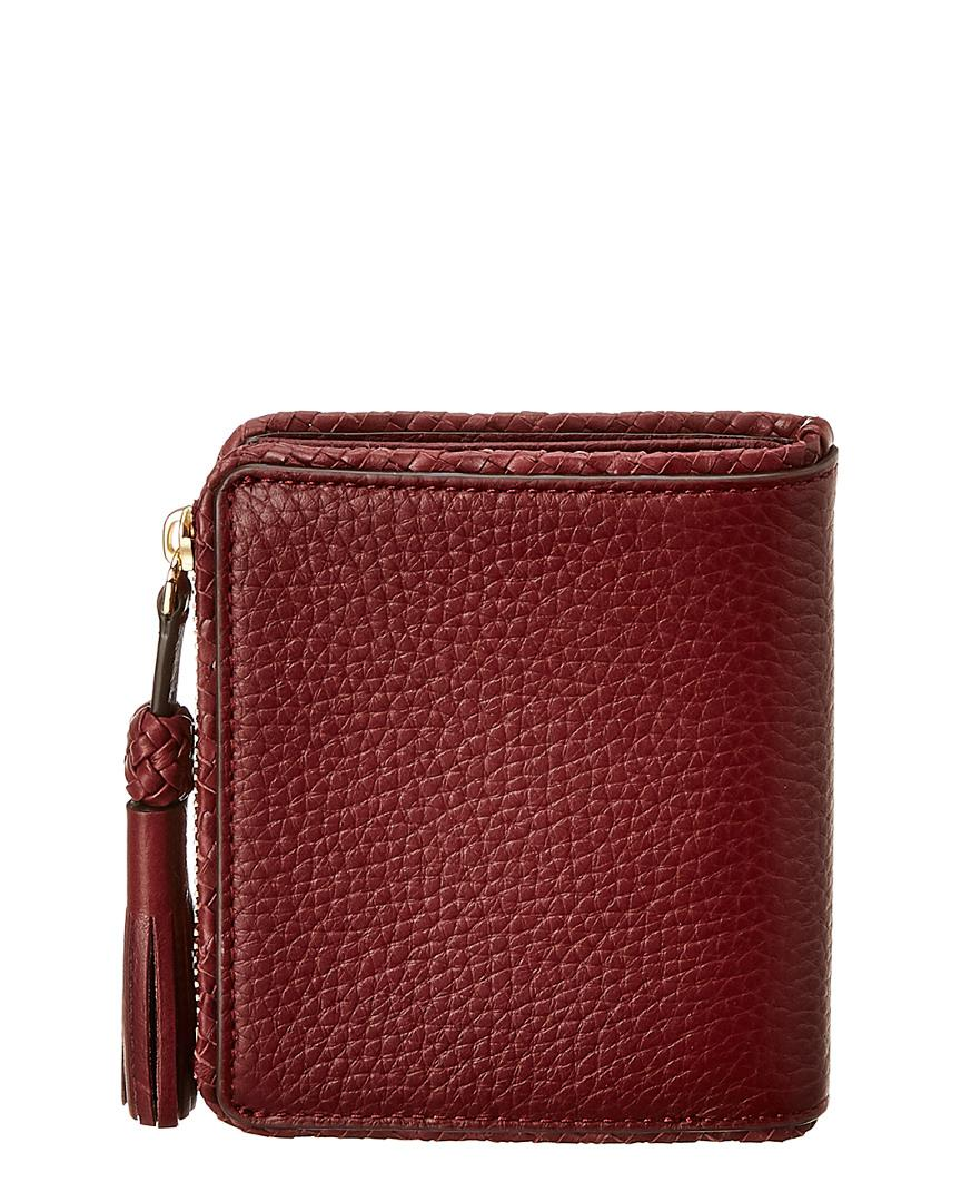 d6eebab0d4c5 Lyst - Tory Burch Taylor Mini Leather Wallet in Red