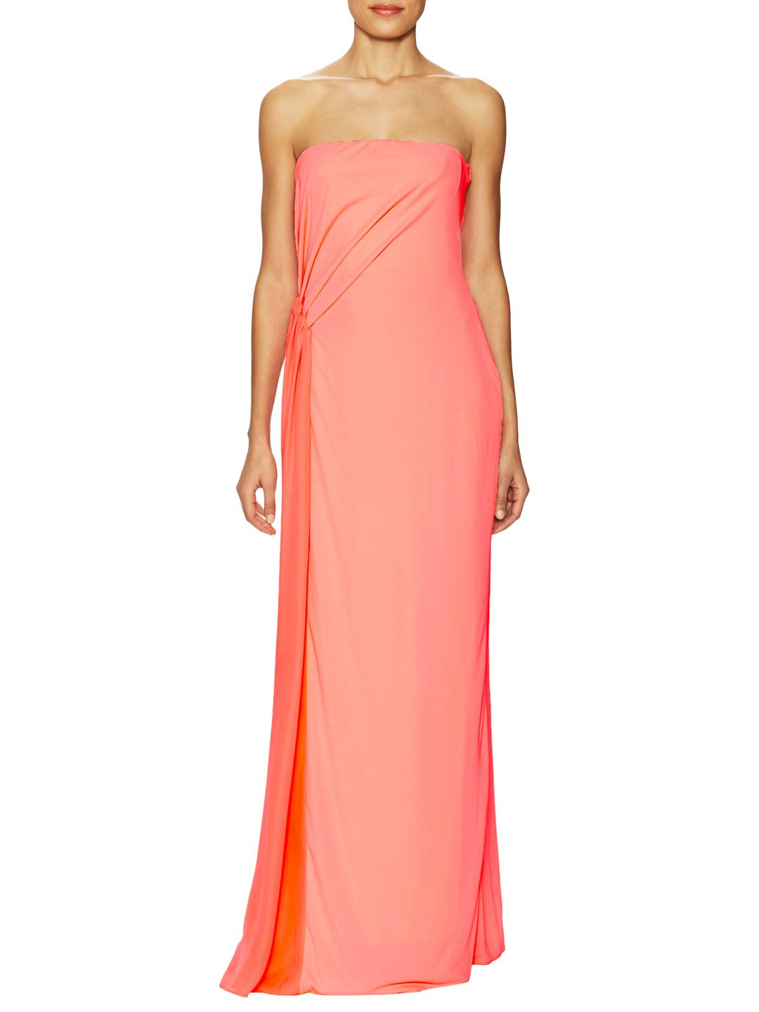 Lyst - Halston Heritage Draped Pleated Evening Gown in Pink